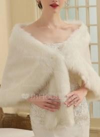 Faux Fur Wedding Shawl (013149885) - Wraps - JJsHouse