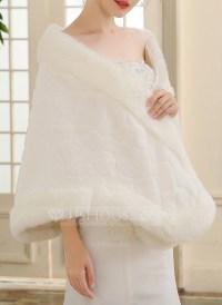 Faux Fur Wedding Shawl (013149880) - Wraps - JJsHouse