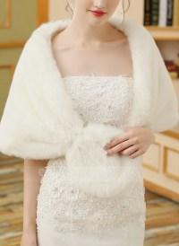 Faux Fur Wedding Shawl (013149946) - Wraps - JJsHouse