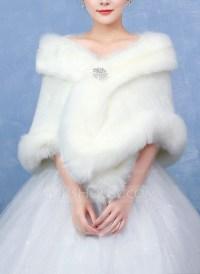 Faux Fur Wedding Shawl (013096701) - Wraps - JJsHouse