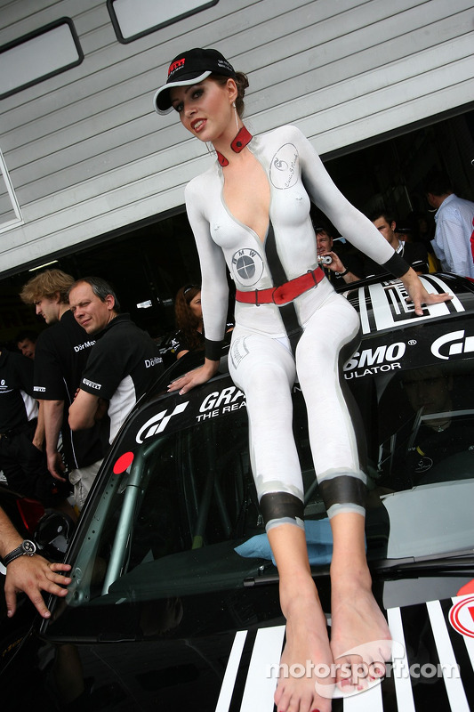 A lovely bodypainted girl at 24 Hours of Nurburgring