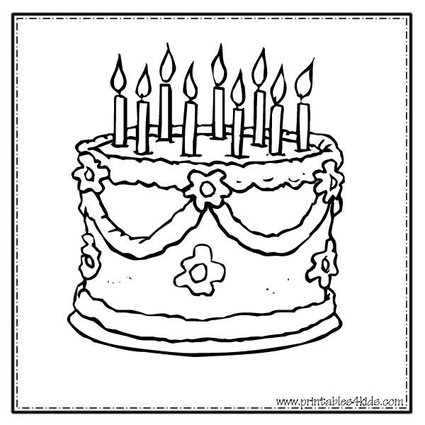 te cake Colouring Pages