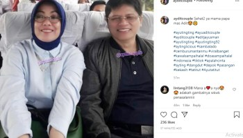 Father and Mother Adit Jayusman, Ayu Ting Ting's new boyfriend.