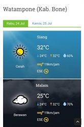 Suhu Saat Ini : Cuaca, Cerah, Derajat, Celcius, Tribun, Timur