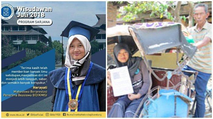 Putri Tukang Becak Herayati Lulusan S1-S2 ITB Ketiban Rejeki Nomplok,  Perjuangannya Tak Sia-sia - Halaman all - Tribun Timur
