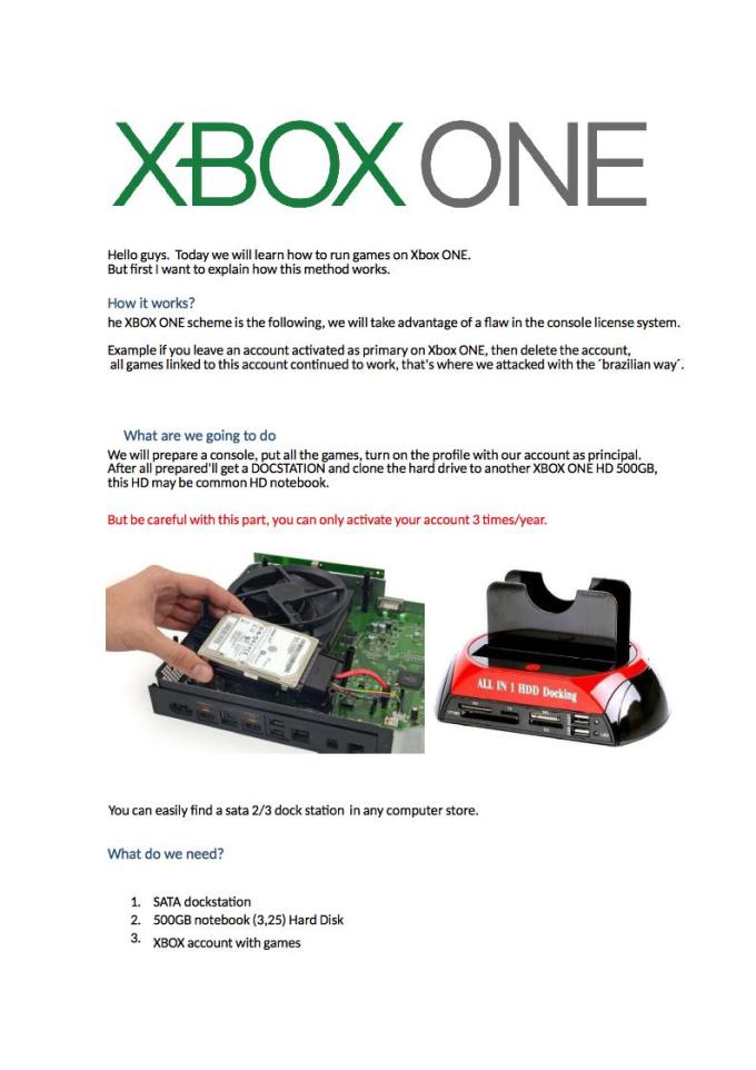 xbox one hack to play pirated games | Gameswalls org