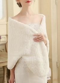 Faux Fur Wedding Shawl (013149892) - Wraps - JJsHouse