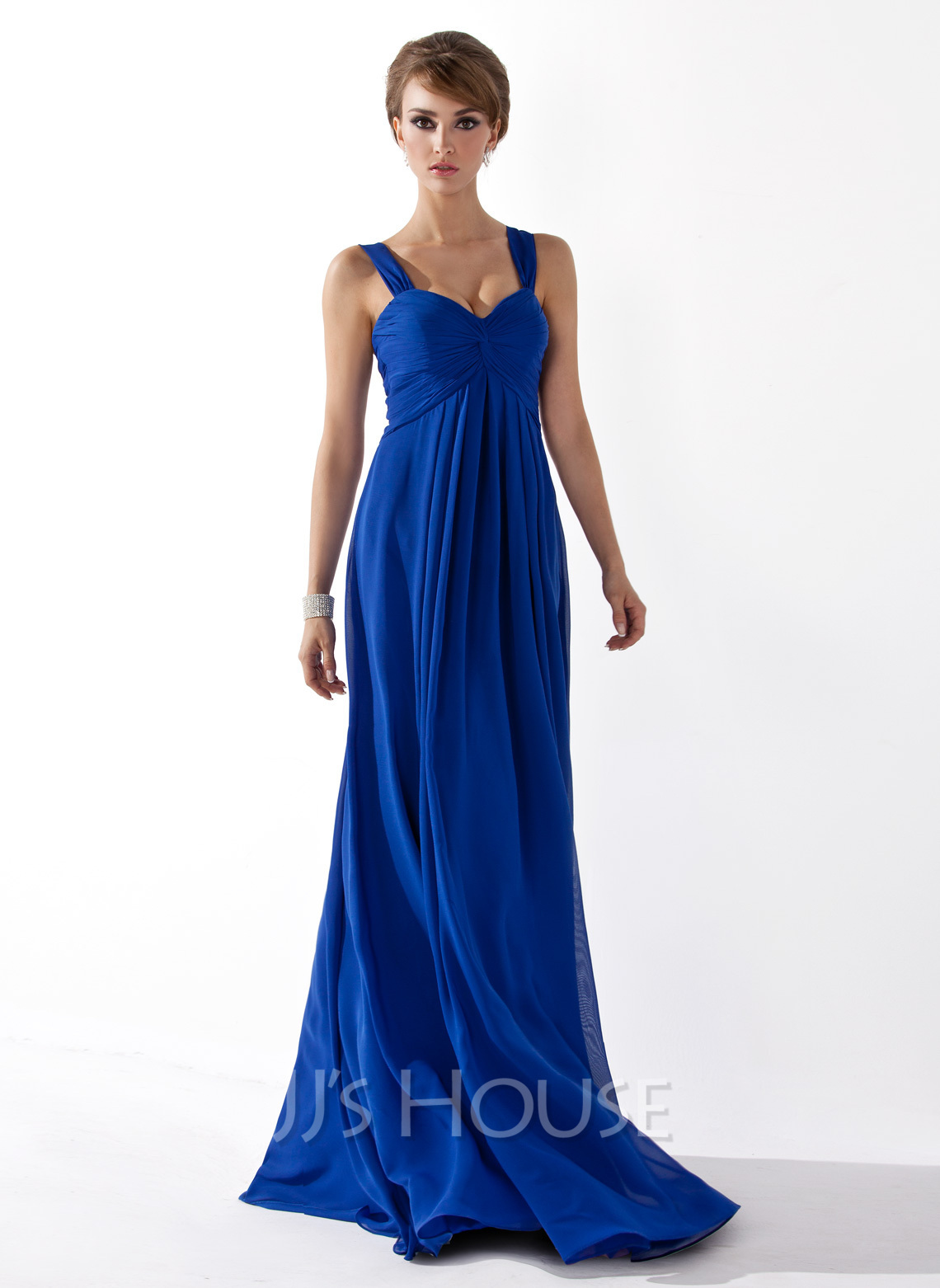 Chiffon Floorlength Empire Sweetheart Bridesmaid Dress