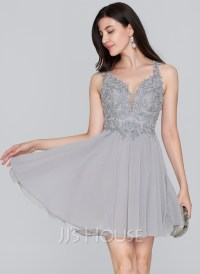 A-Line/Princess Sweetheart Short/Mini Chiffon Homecoming ...