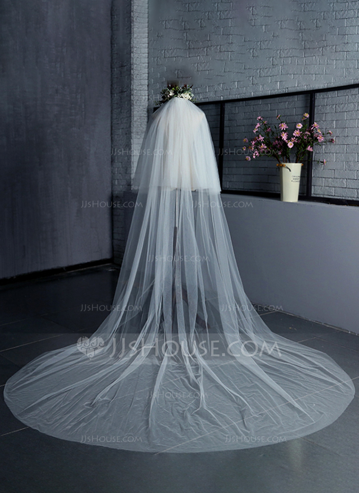 Two Tier Cut Edge Cathedral Bridal Veils 006125299
