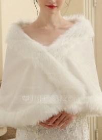 Faux Fur Wedding Shawl (013149891) - Wraps - JJsHouse