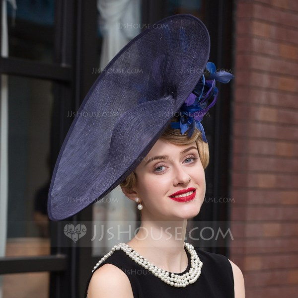 Ladies' Elegant Net Yarn Bowler Cloche Hat Kentucky Derby