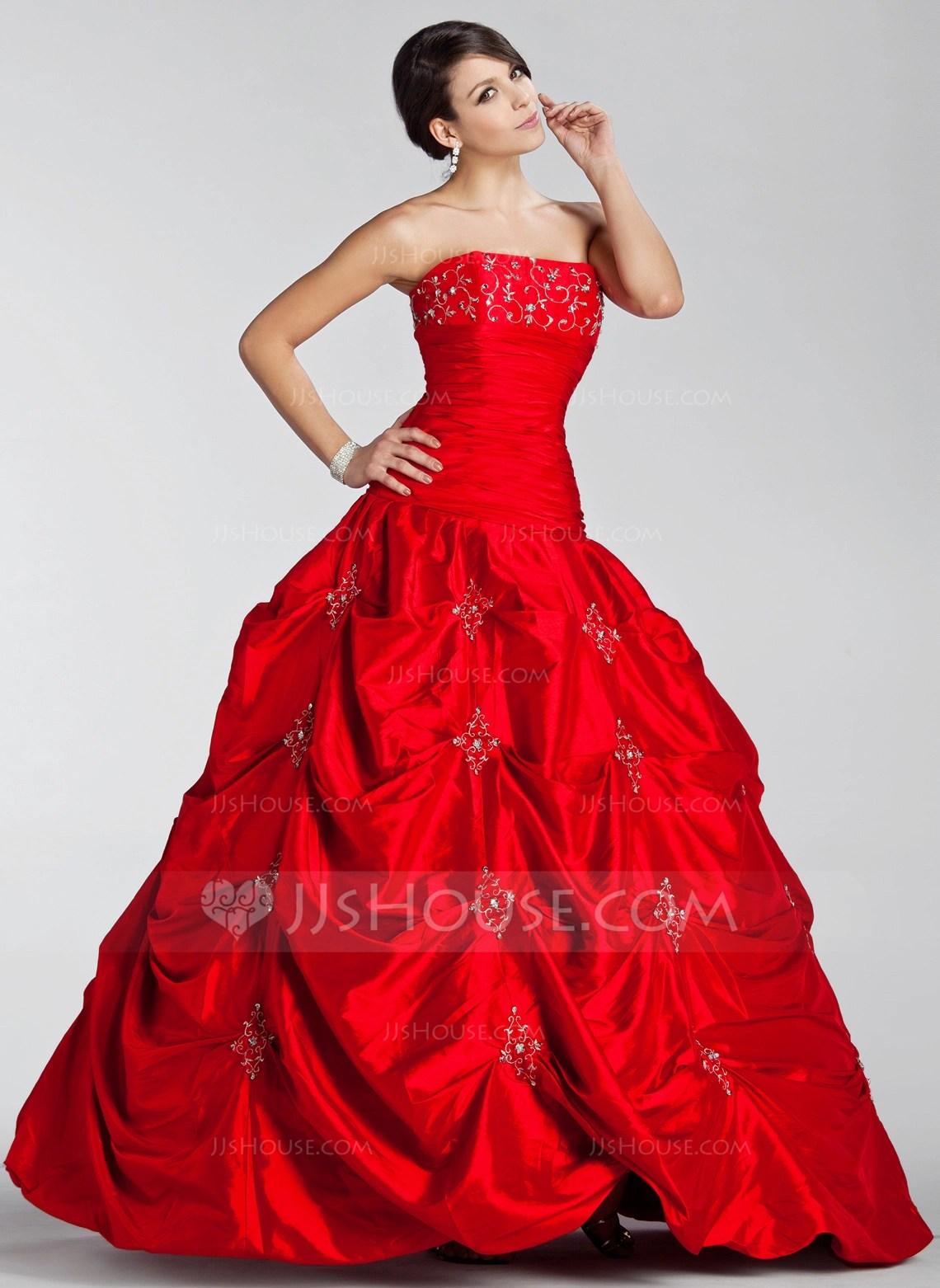 DuchesseLinie Trgerlos Bodenlang Taft Quinceaera Kleid