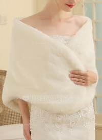 Faux Fur Wedding Shawl (013149884) - Wraps - JJsHouse