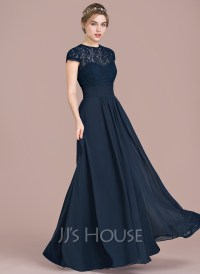 A-Line/Princess Sweetheart Floor-Length Chiffon Lace ...