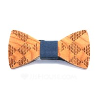 Vintage Wood Bow Tie (200085340) - Men's Accessories ...