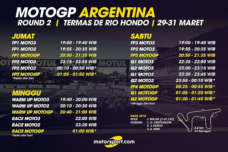 Jadwal lengkap MotoGP Argentina 2019  Berita MotoGP