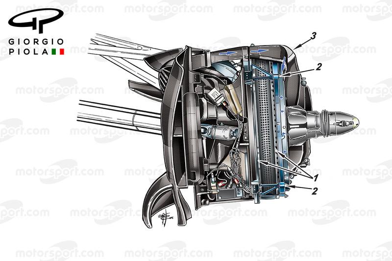 Mercedes W07, disco freno anteriore, GP del Messico
