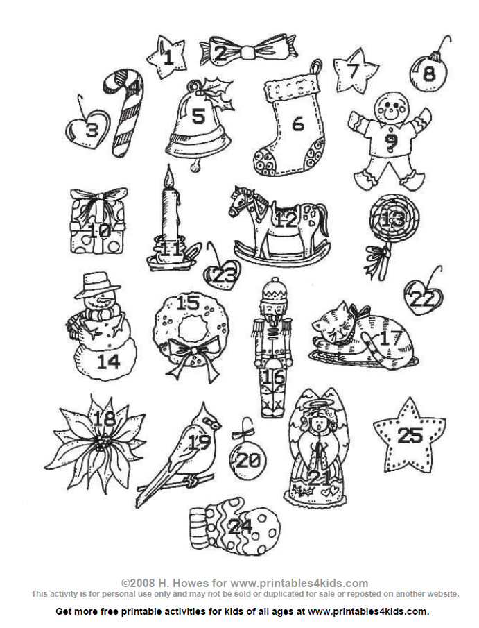 Free coloring pages of christmas wordsearch