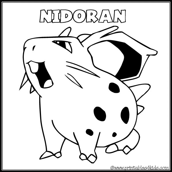 Pokemon Nidorino Coloring Pages