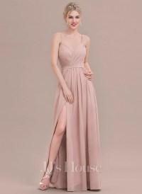 A-Line/Princess Sweetheart Floor-Length Chiffon Bridesmaid ...
