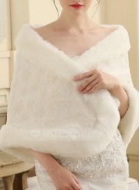 Faux Fur Wedding Shawl (013149890) - Wraps - JJ's House