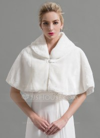 Faux Fur Wedding Shawl (013095209) - Wraps - JJ's House