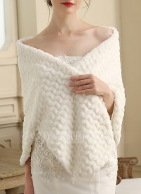 Faux Fur Wedding Shawl (013149894) - Wraps - JJsHouse