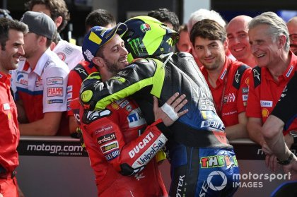 Rossi delighted that Dovizioso is his final teammate