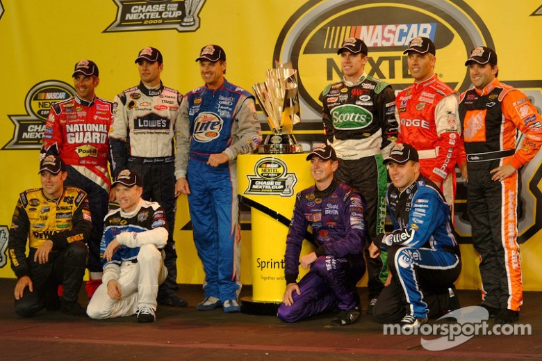 The 10 drivers who qualified for the 2005 Chase for the NASCAR NEXTEL Cup: Matt Kenseth, Mark ...