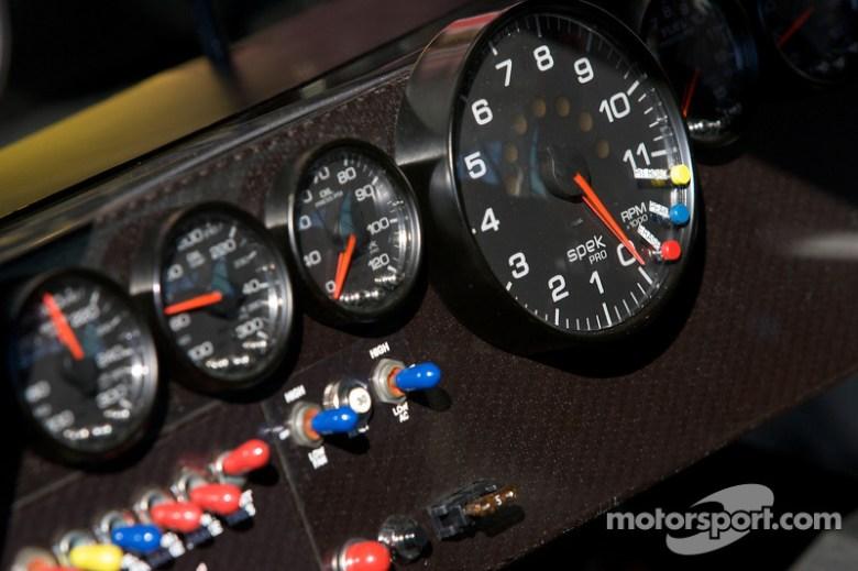 Instrument panel of the Red Bull Racing Team Toyota at Daytona 500