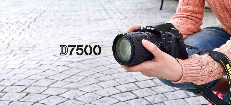D7500 black Nikon camera