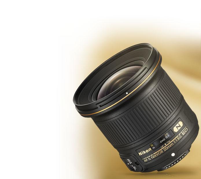 Product photo of the AF-S NIKKOR 20mm f/1.8G ED lens