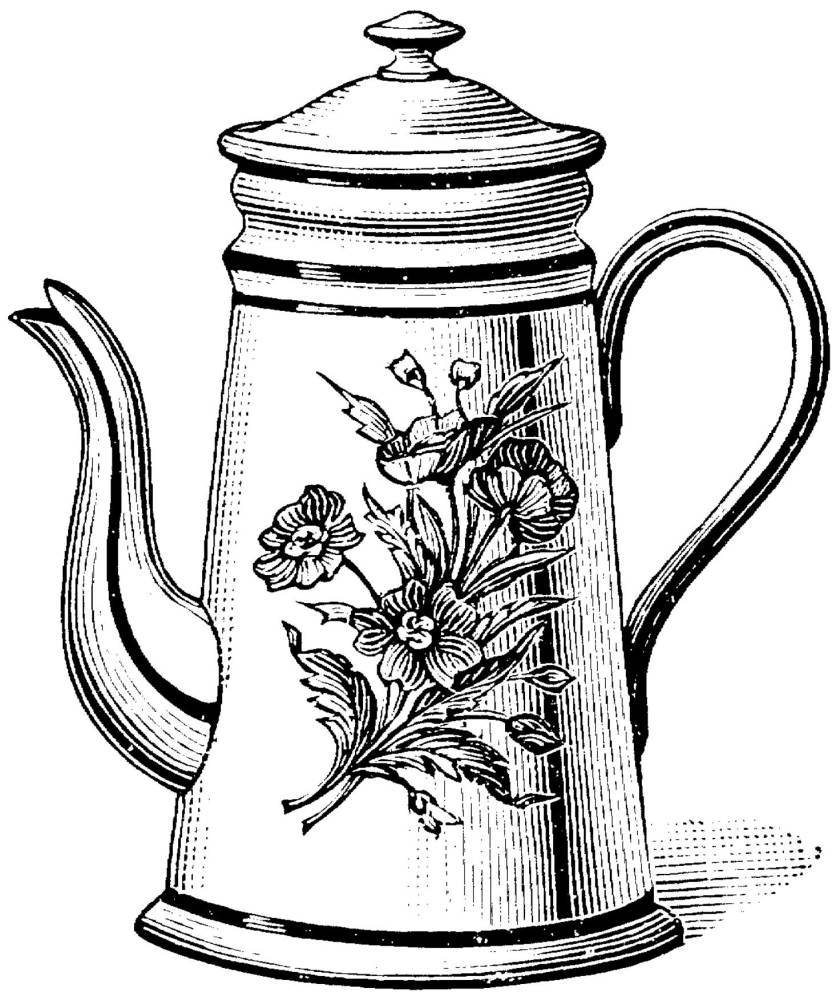 coloring pages  tea pot