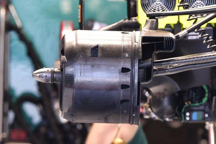 Aston Martin AMR21 front brake duct detail
