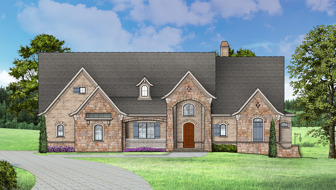 Ranch House Plan with 4 Bedrooms and 45 Baths  Plan 1453