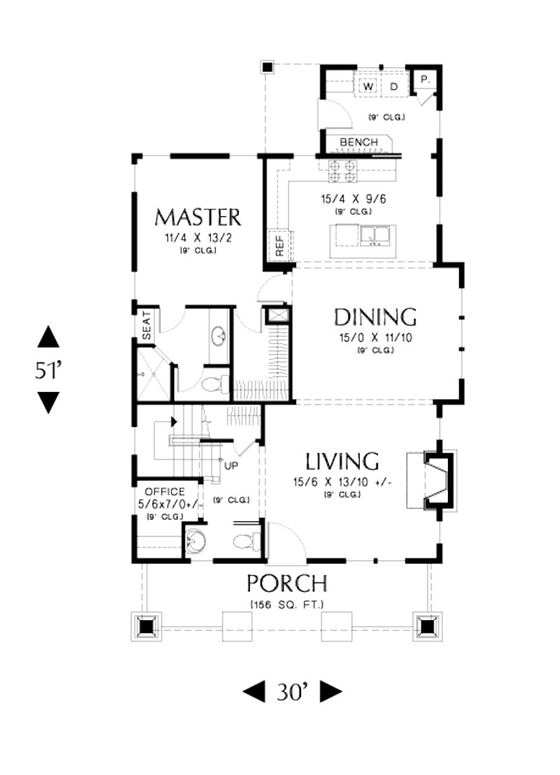 Bungalow House Plan With 3 Bedrooms And 2 5 Baths Plan 5188