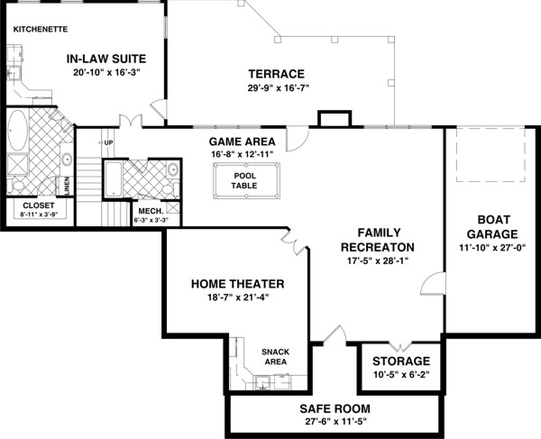 Ranch House Plan with 3 Bedrooms and 35 Baths  Plan 1169