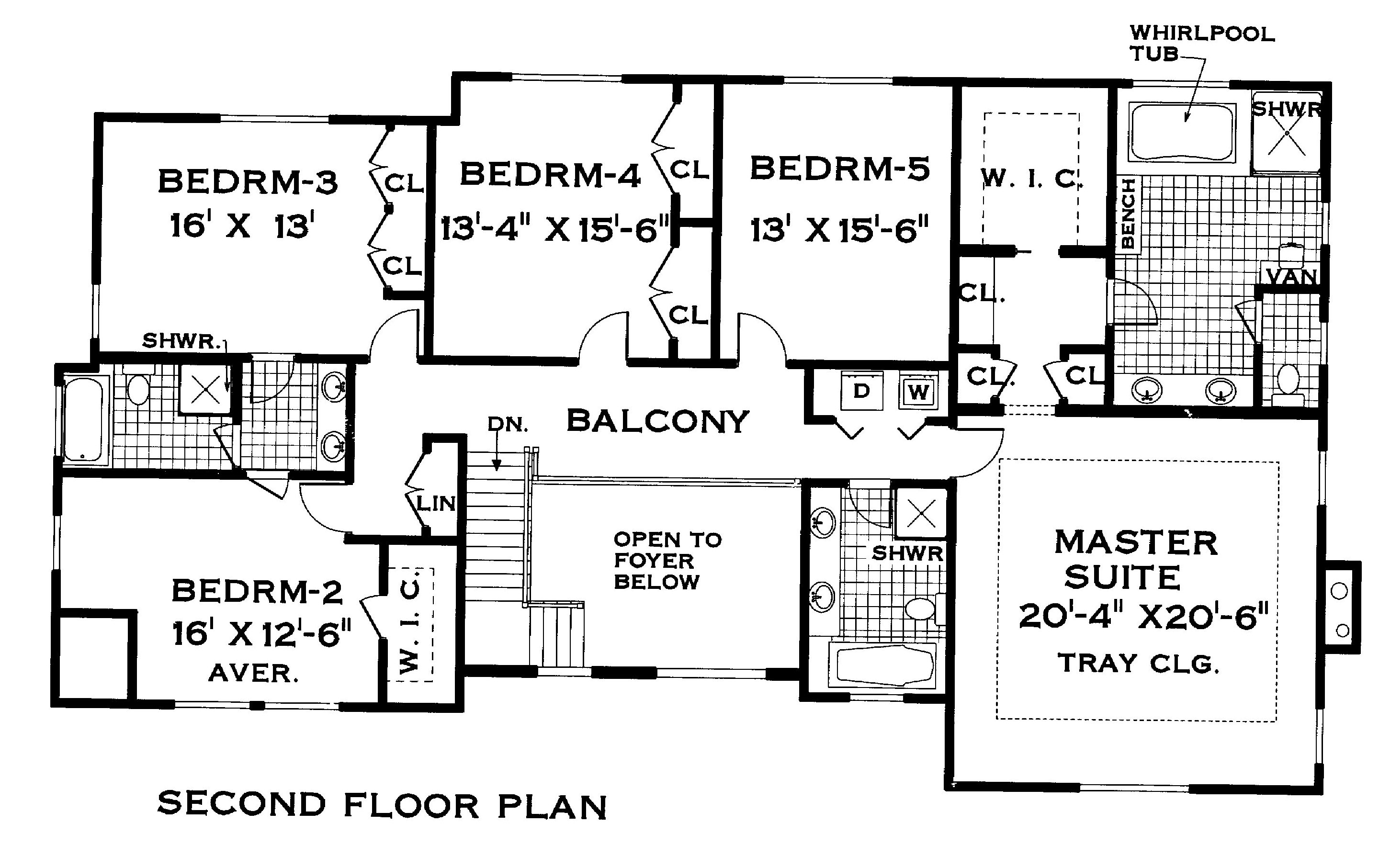 Colonial House Plan With 5 Bedrooms And 3 5 Baths