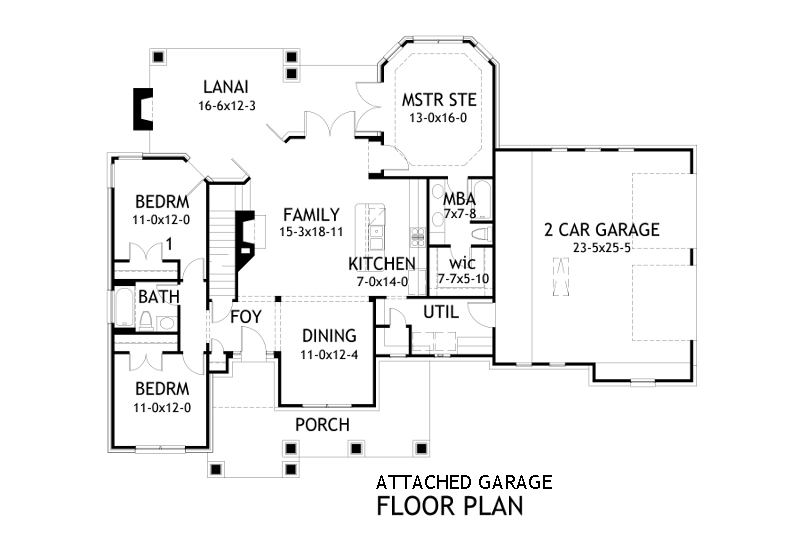 Craftsman House Plan With 3 Bedrooms And 2 5 Baths Plan 2231
