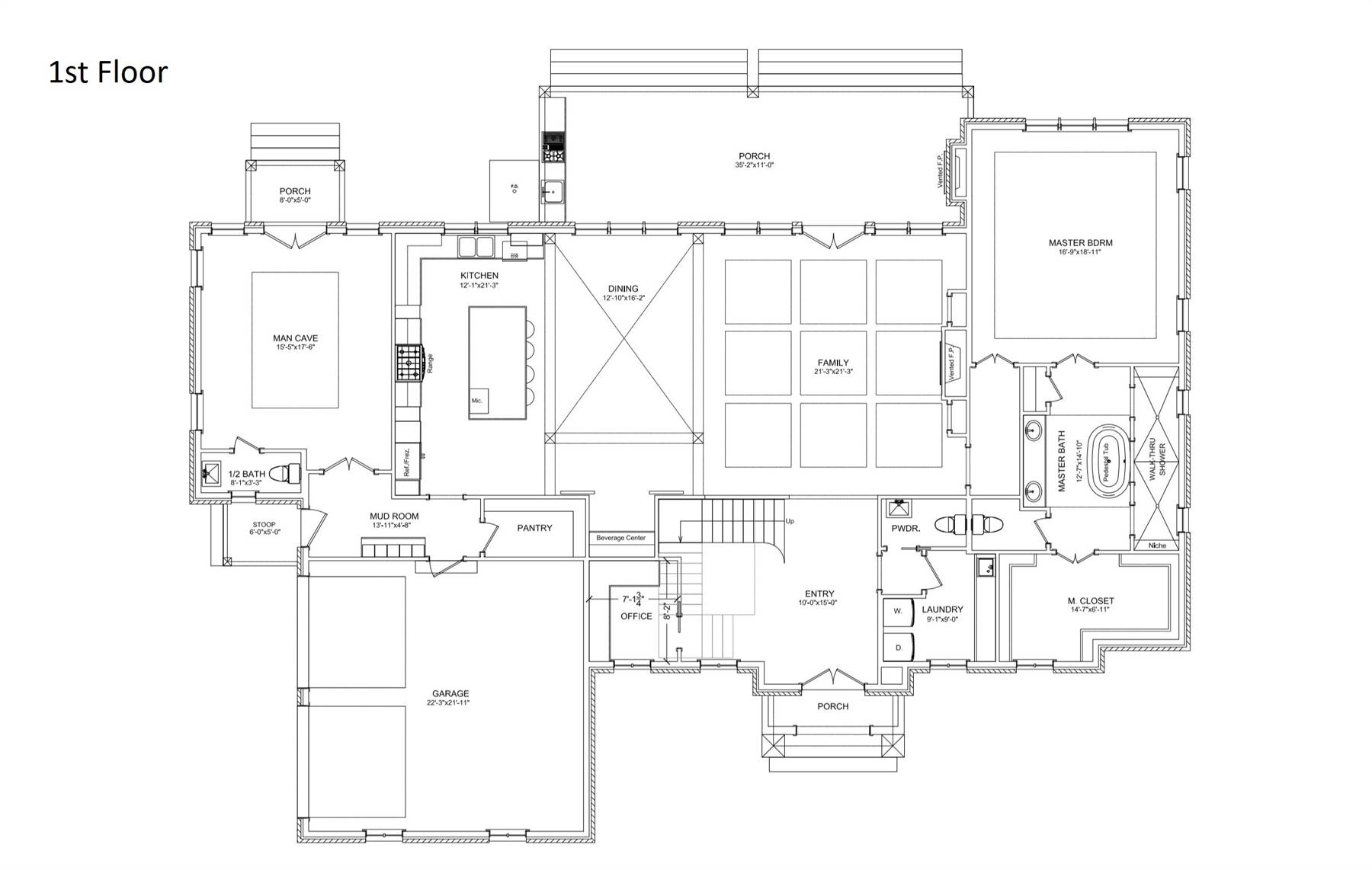 European House Plan with 4 Bedrooms and 35 Baths  Plan 6900
