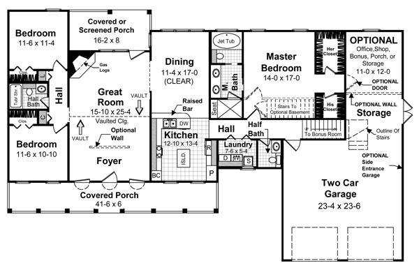 Country House Plan with 3 Bedrooms and 25 Baths  Plan 5698