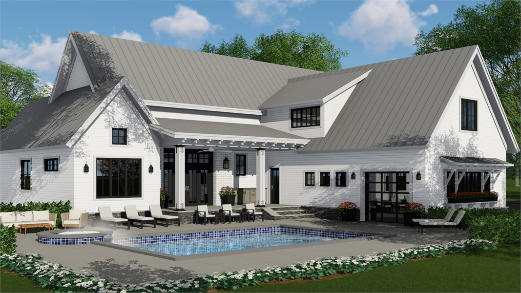 Cottage House Plan With 4 Bedrooms And 45 Baths Plan 3404