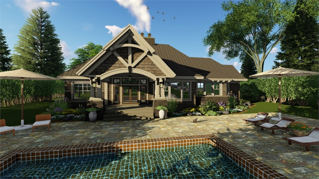 Craftsman House Plan With 3 Bedrooms And 3.5 Baths