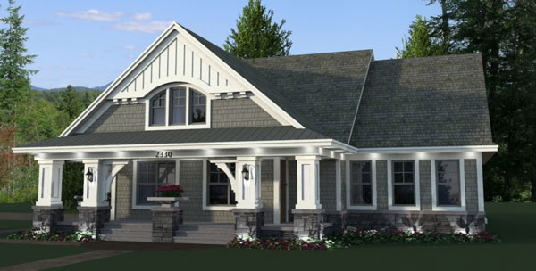 craftsman House Plan with 3 Bedrooms and 25 Baths  Plan 9669