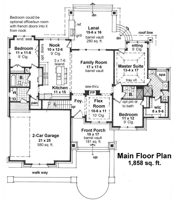 craftsman House Plan with 3 Bedrooms and 35 Baths  Plan 9670