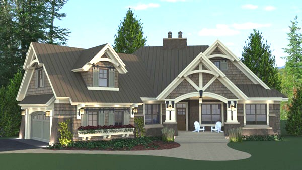 craftsman House Plan with 3 Bedrooms and 35 Baths  Plan 9720