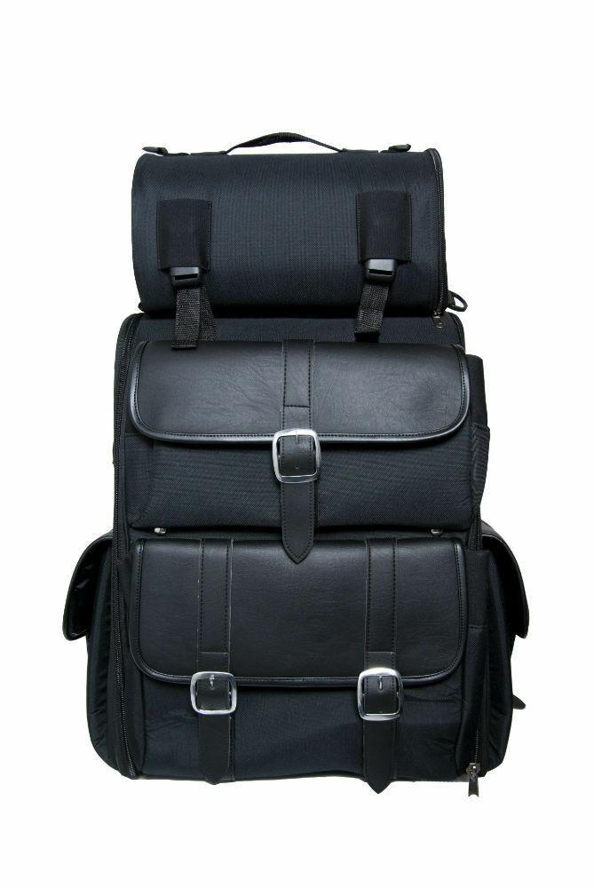 Updated Touring Sissy Bar Bag Motorcycle Luggage Bag DS391   Motorcycle Helmets Store   PURE HELMET