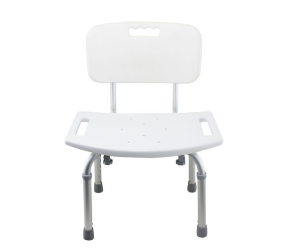grey bathroom safety shower tub bench chair straight back tool free legs adjustable with backrest anodized matt type