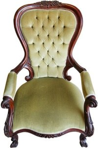 Antique Louis Armchair Reupholstered - Mandall Upholstery
